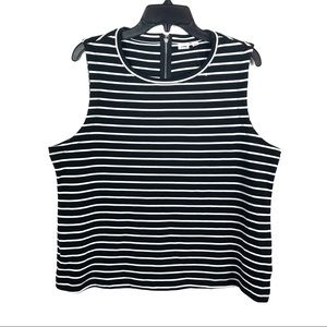 GAP, Black & White Striped Top, XL NWOT
